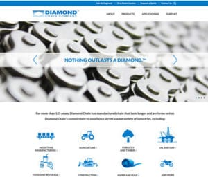 Diamond Chain WordPress Website Homepage Portfolio